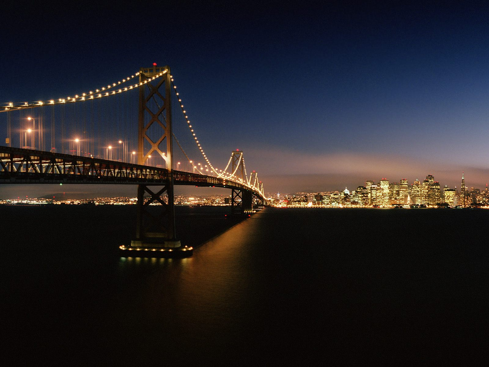 usa san francisco bay bridge california usa city