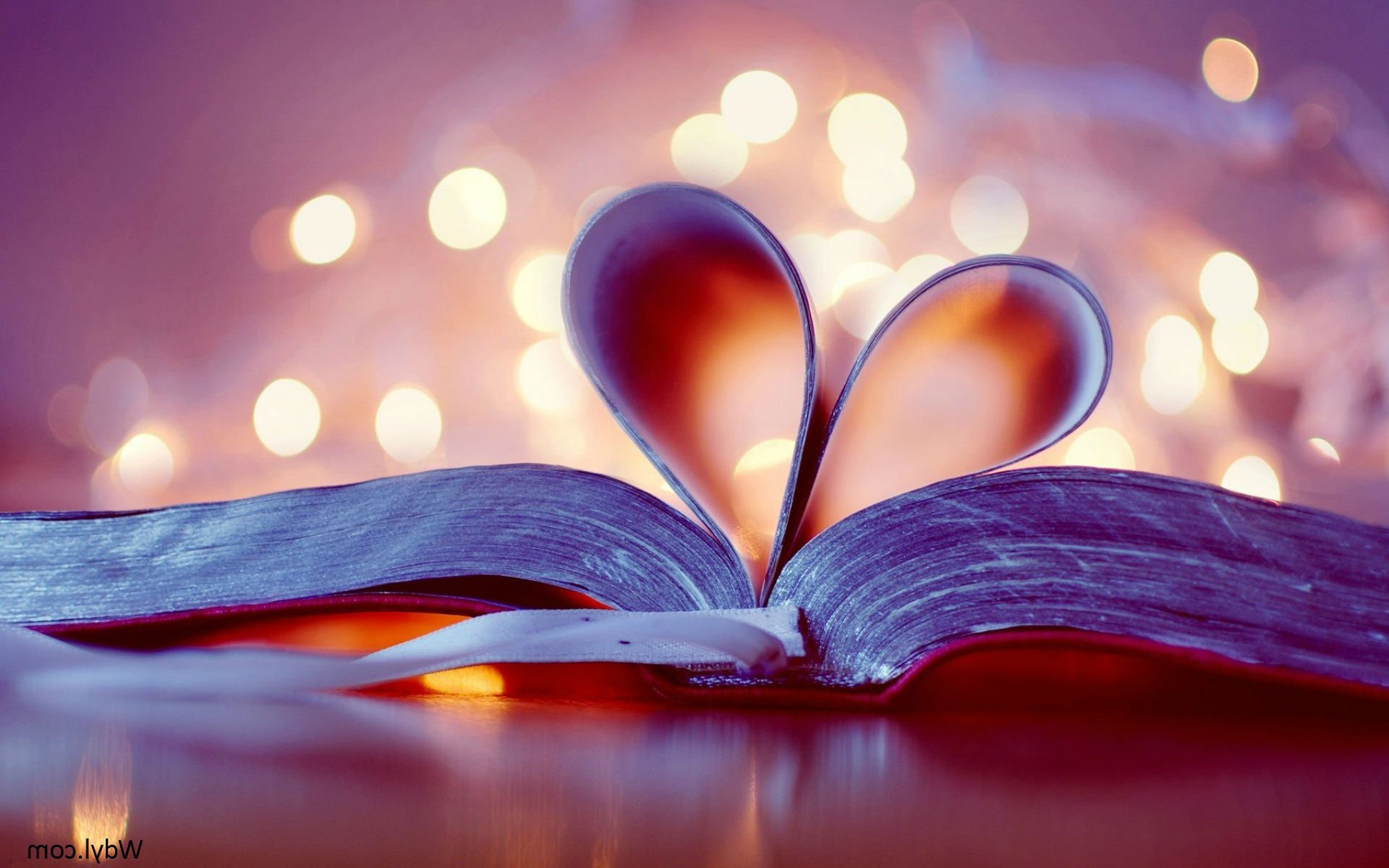 VALENTINES DAY holiday mood love heart bokeh book