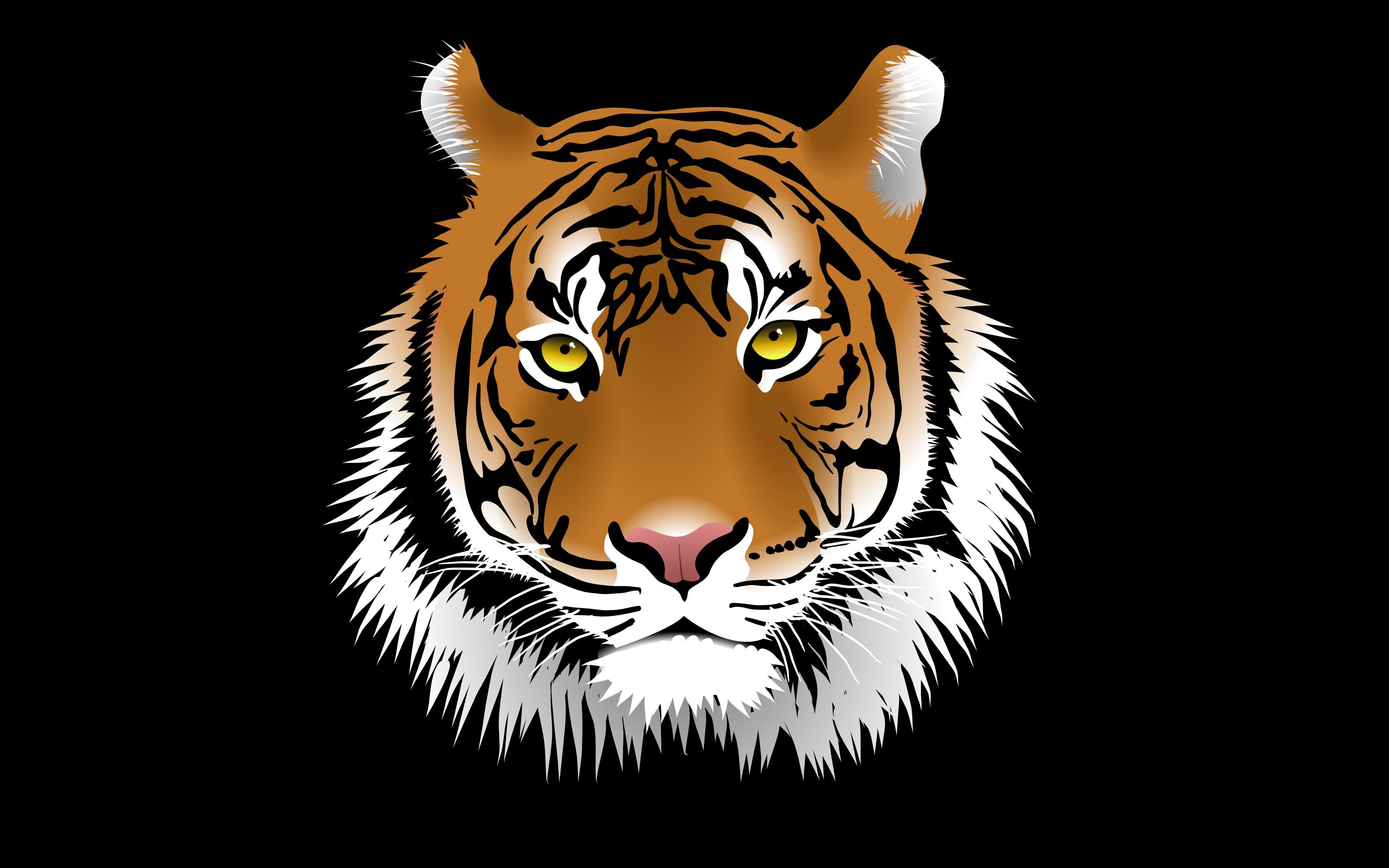 Vector Graphics Big cats Tigers Head Snout Animals tiger