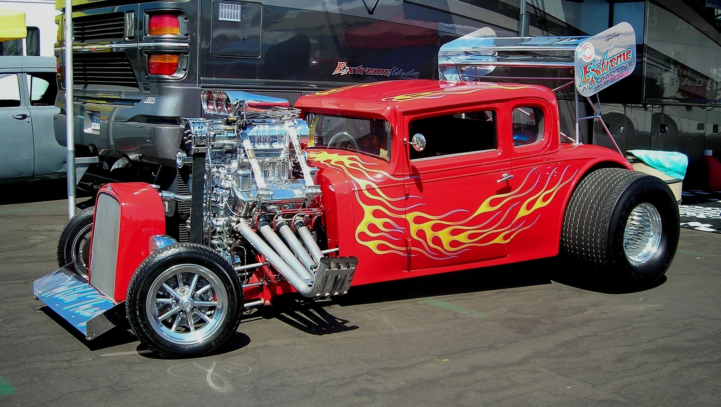 vehicles cars custom engine chrome hot rod classic old retro wheels muscle blower ford