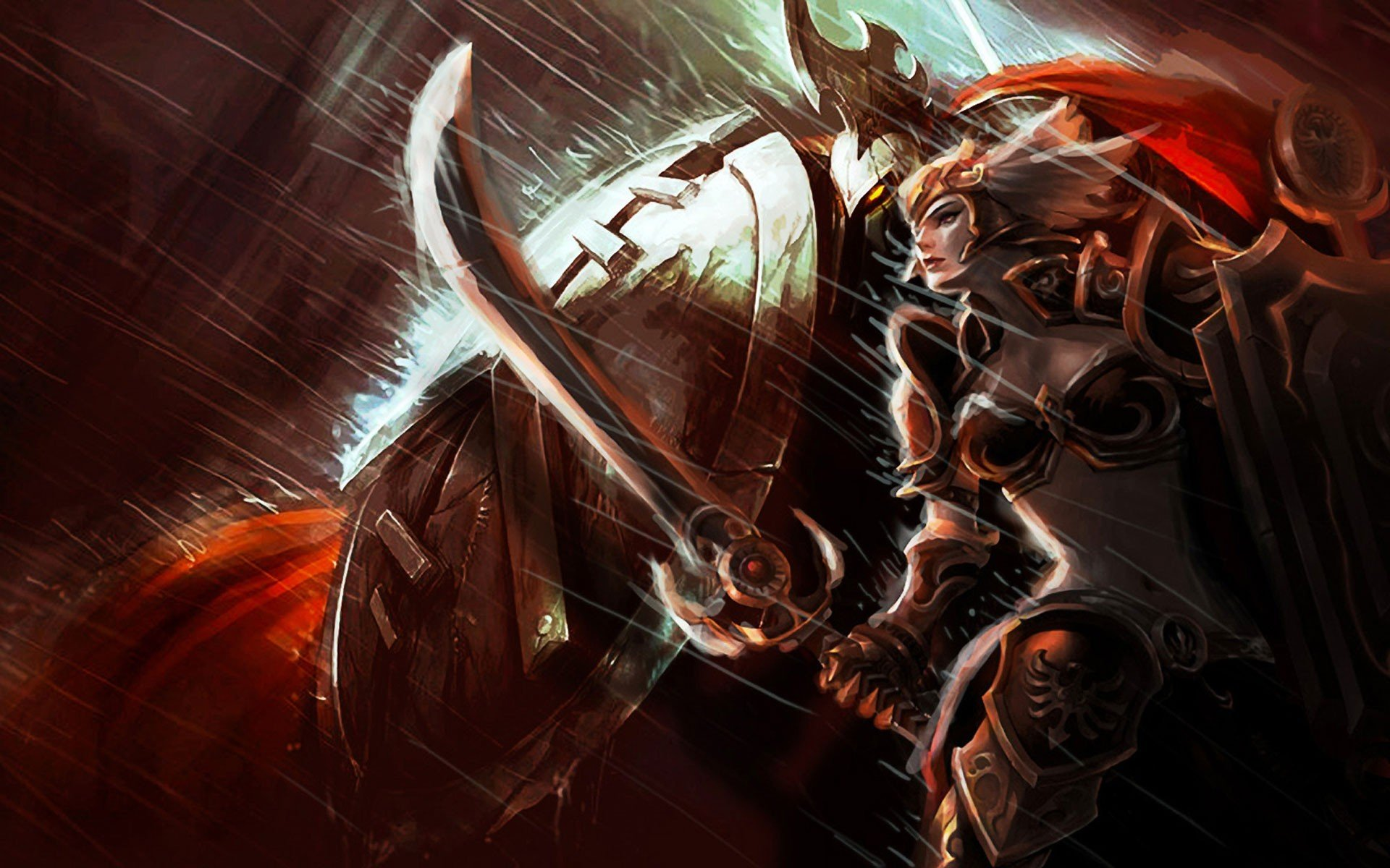video games League of Legends valkyrie blade armor Pantheon Leona S_H_I_E_L_D_ Leona the Radiant Dawn