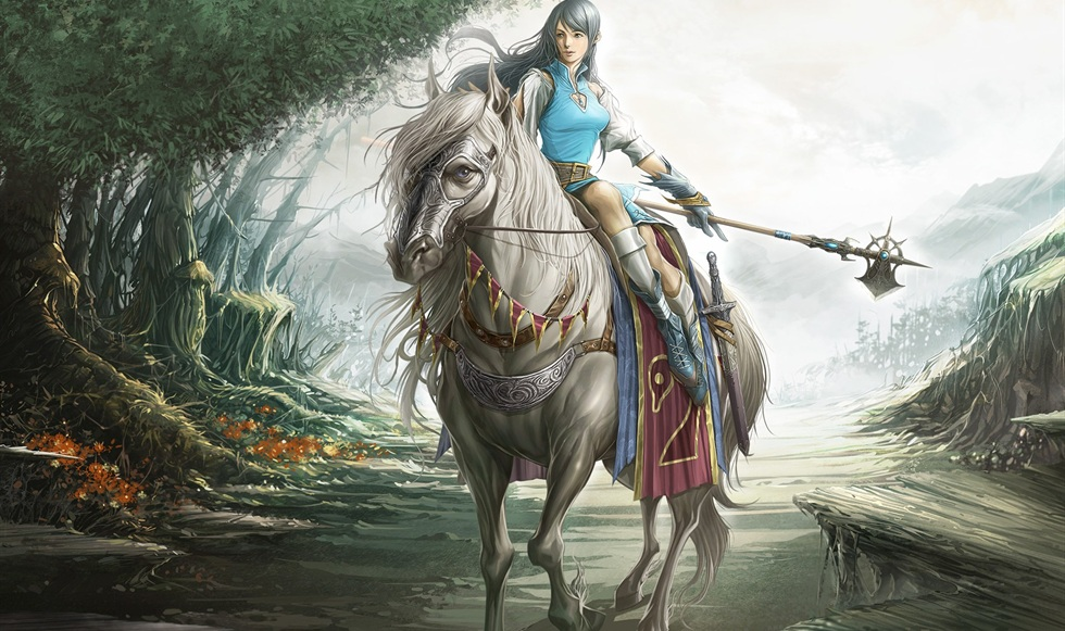 Warrior with the white horse