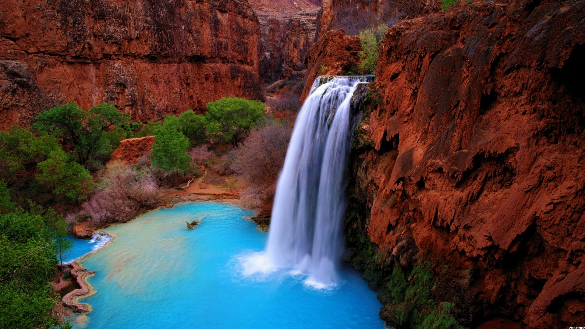 Waterfall in the canyon