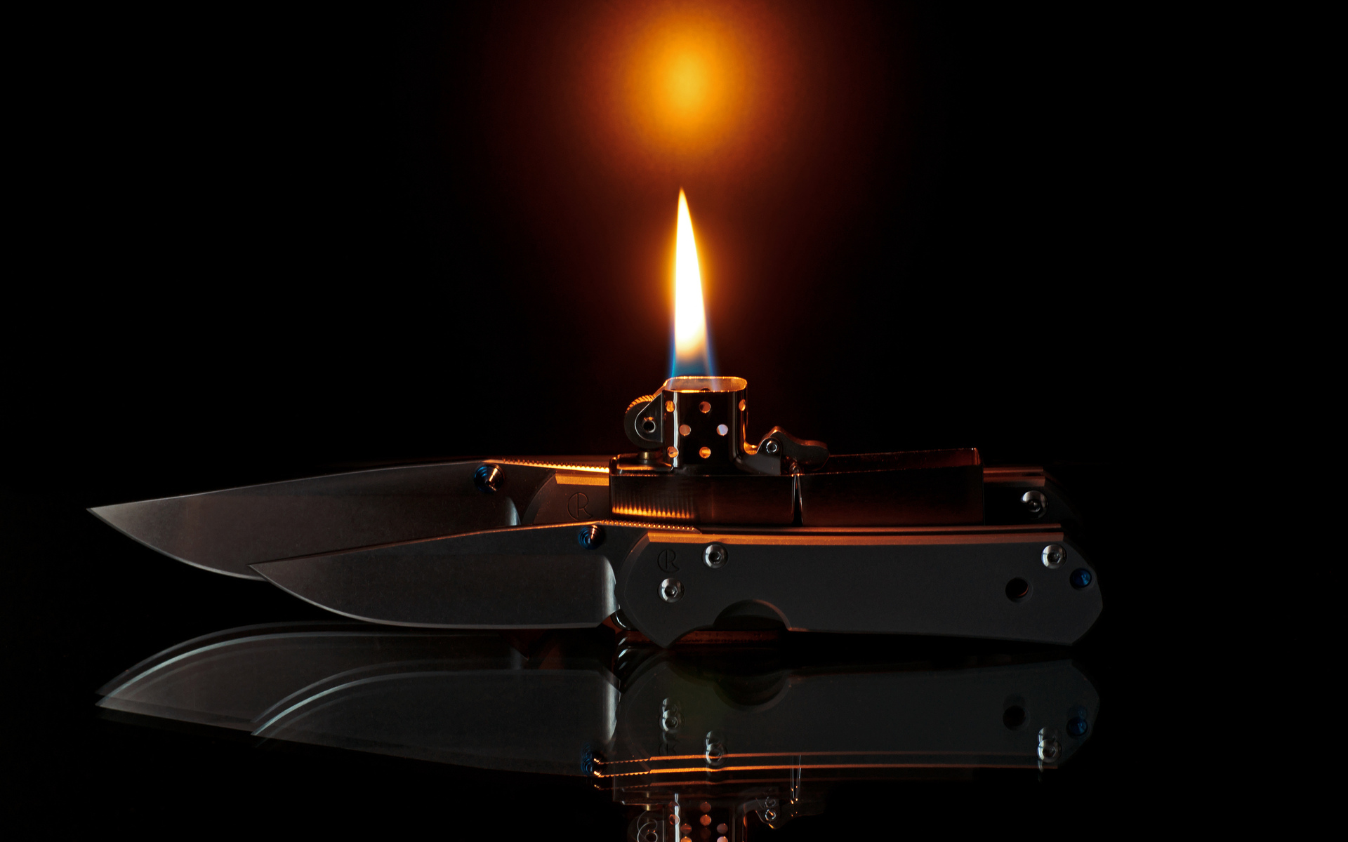 weapons knife lighter fire zippo