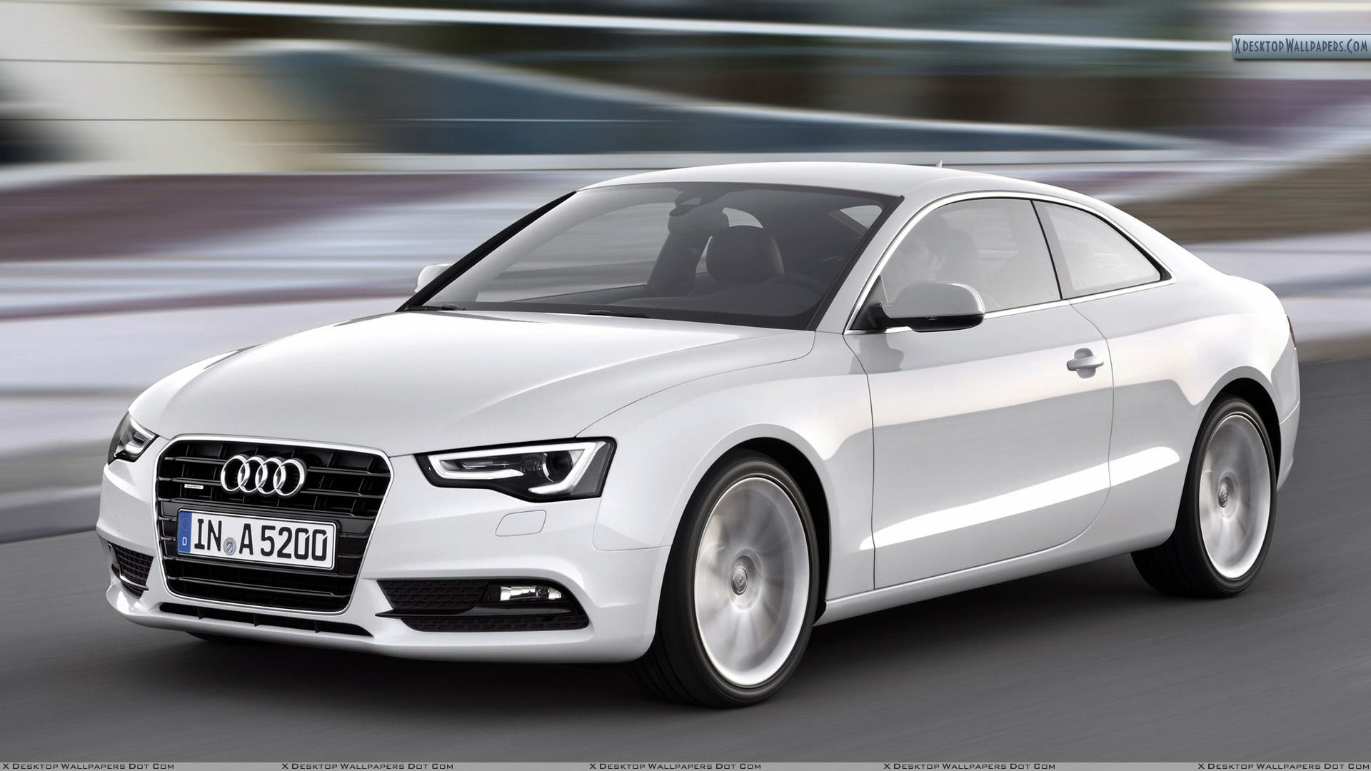 White Audi A5 Cabriolet