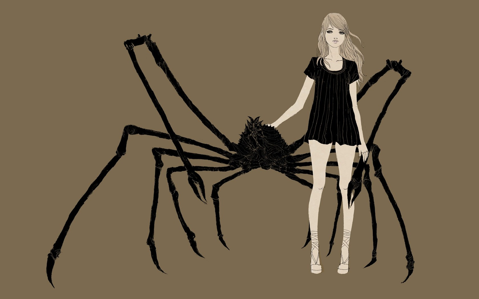 Woman with giant pet spider