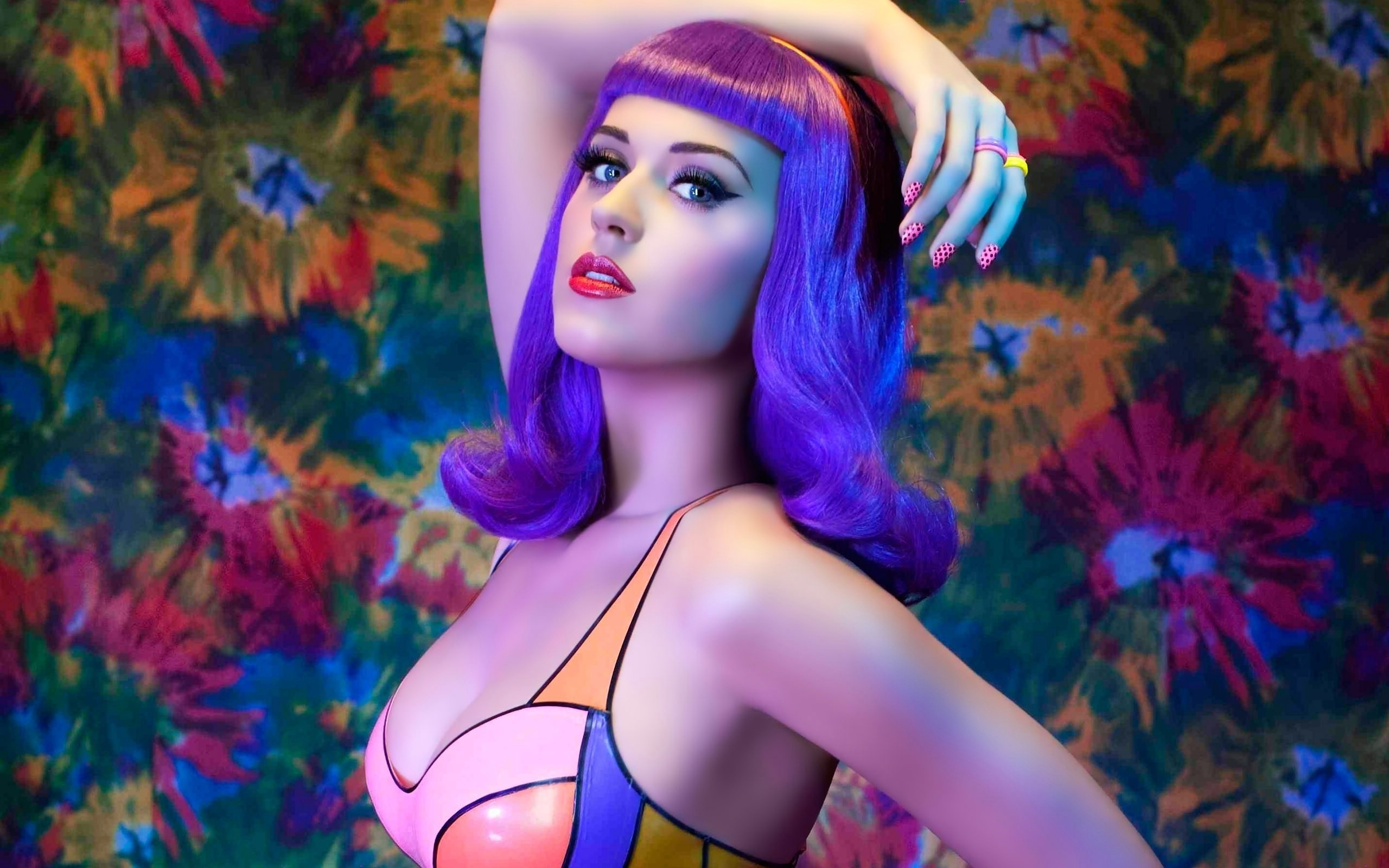 women music Katy Perry blue hair singers