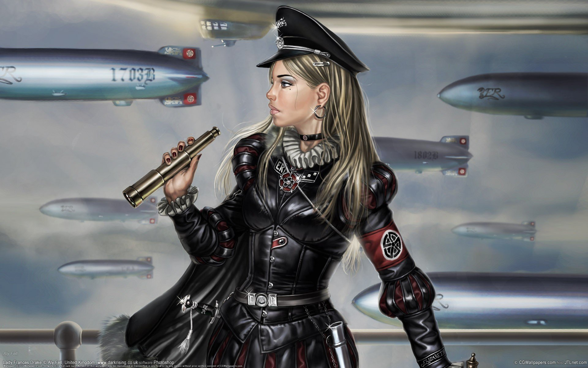women uniforms weapons earrings vehicles zeppelin