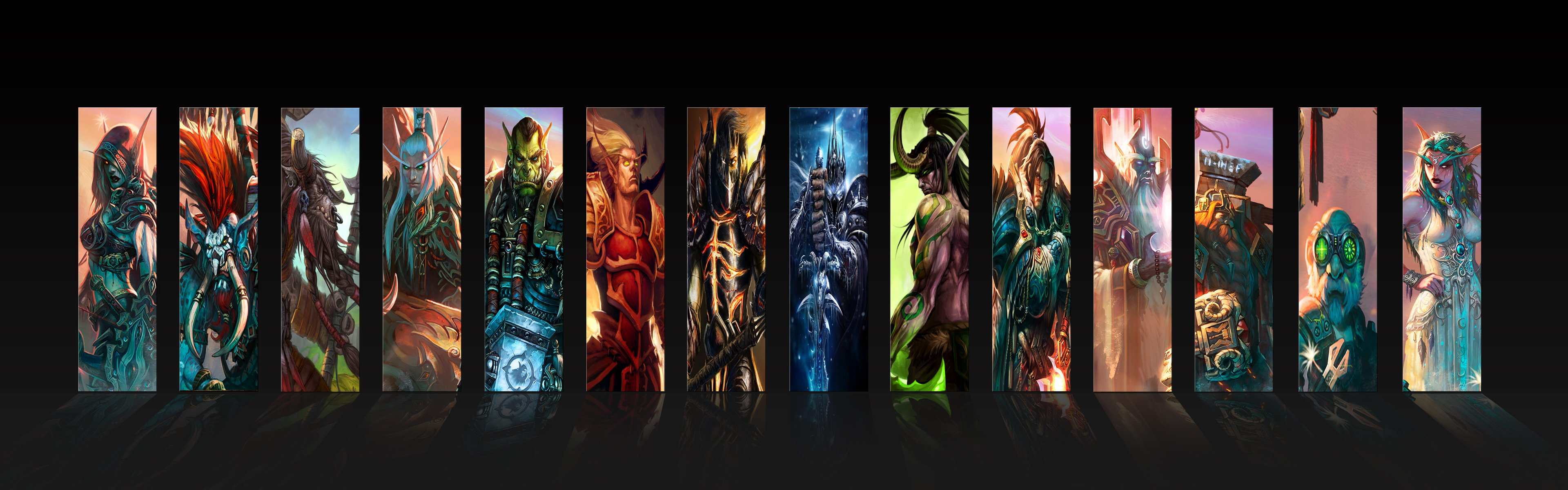 World of Warcraft Lich King deathwing thrall Sylvanas Windrunner vol'jin cairne bloodhoof