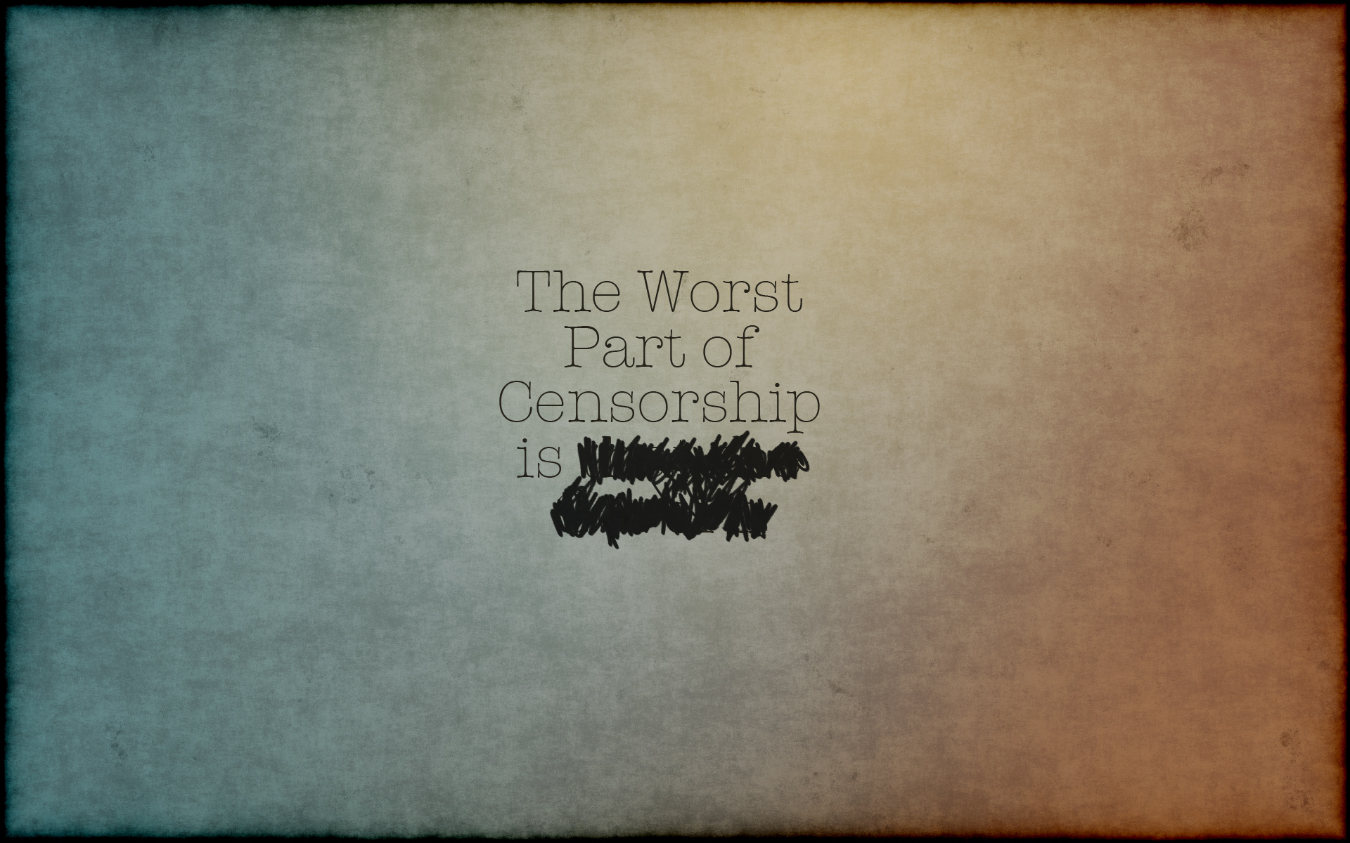 Worst part of censorship