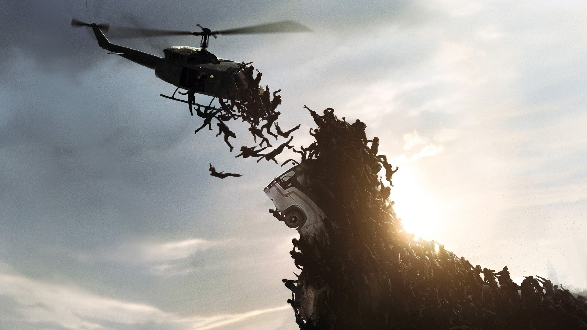 Zombies helicopter